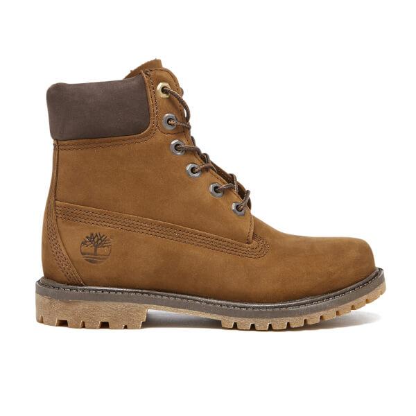 Timberland Women's 6 Inch Premium Boots - Dark Rubber Waterbuck