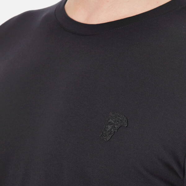 Black Small Medusa T-Shirt Versace Outlet Factory Outlet Free Shipping Low Shipping VJNIE
