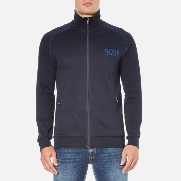 boss hugo boss mens zipped track jacket dark blue