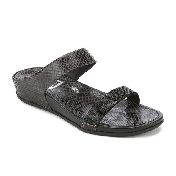 e64cd2438721e FitFlop Women s Banda Crystal Imi-Snake Slide Sandals - Black  Image 2