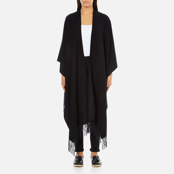 Gestuz Women's Malou Wool Poncho - Black