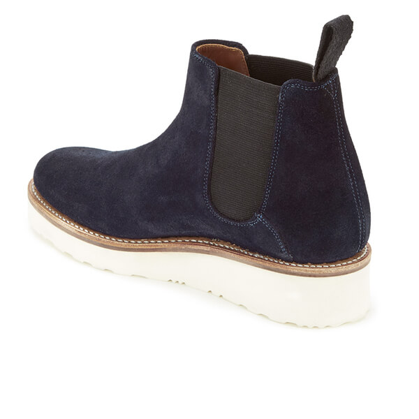 grenson s lydia suede chelsea boots navy free uk