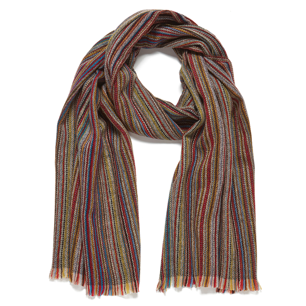 Paul Smith Accessories Men's Stripe Herringbone Scarf - Multi