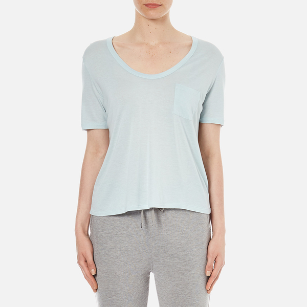 T by Alexander Wang Women's Classic Cropped T-Shirt with Chest Pocket - Wave
