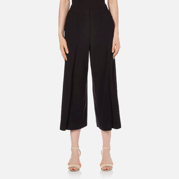 T by Alexander Wang Women's Poly Crepe Flared Pants - Black