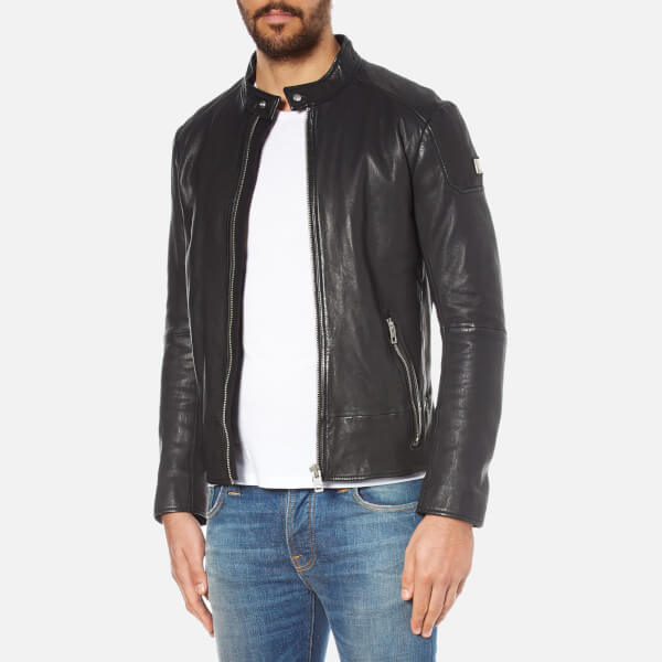 3e50cb80938b Boss Orange Men S Jofynn Leather Jacket Black Clothing Thehut Com