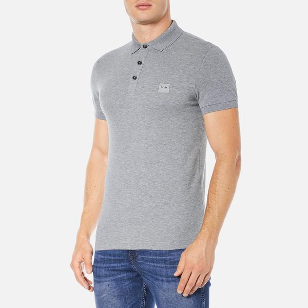 f8bf5912 BOSS Orange Men's Pavlik Polo Shirt - Grey Clothing   TheHut.com