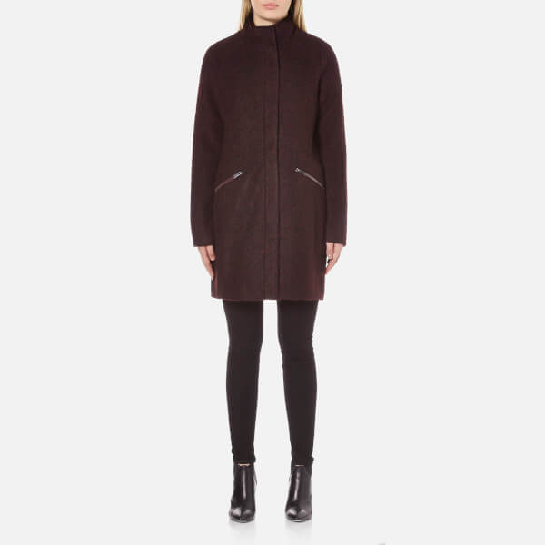 febb0c9a377 Vero Moda Women s Ciri Energy 3 4 Wool Jacket - Decadent Chocolate  Image 1