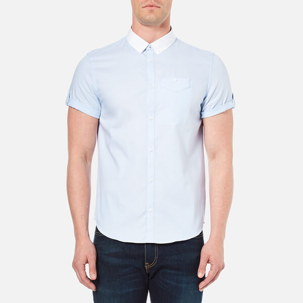 Luke 1977 Men's Fortunes Gap Short Sleeve Shirt - Sky White