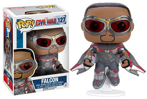 Marvel Captain America Civil War Falcon Damaged Pop! Vinyl Figure