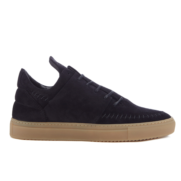 Filling Pieces Men's Native Suede Low Top Trainers - Black