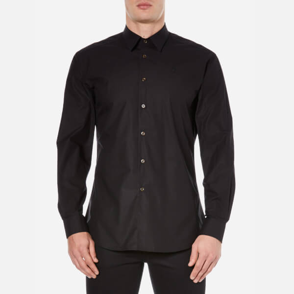 Vivienne Westwood MAN Men's Firm Poplin Classic Cutaway Shirt - Black