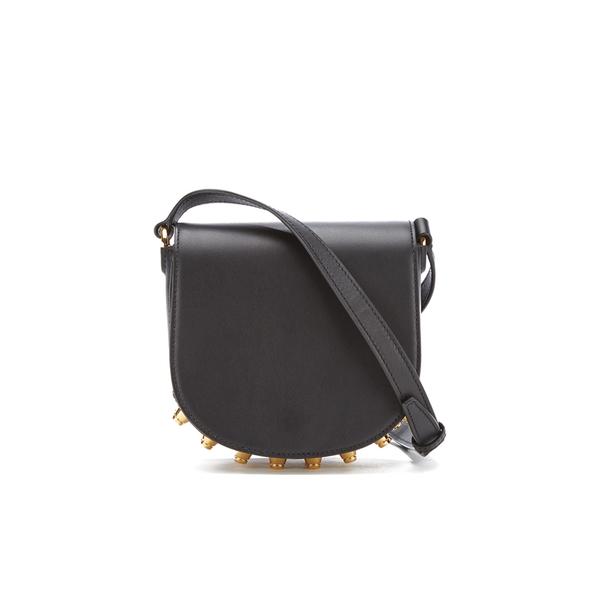 Alexander Wang Women's Mini Lia Cross Body Bag with Gold Studs - Black