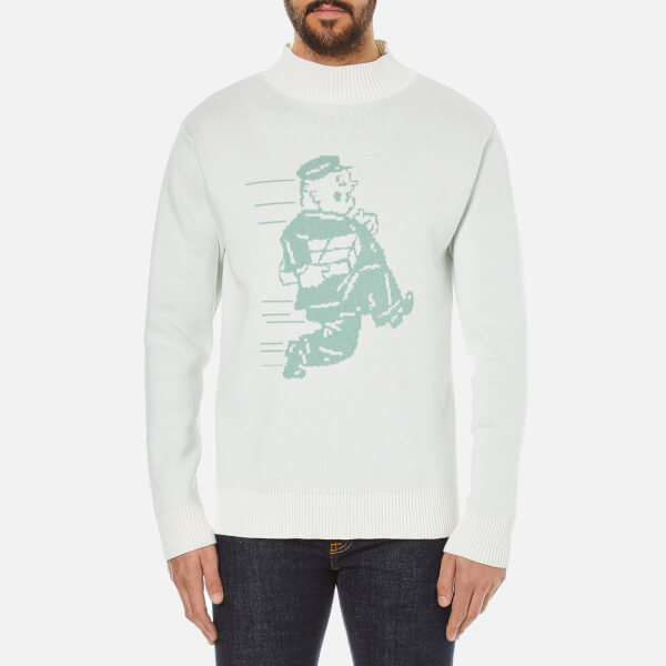 Garbstore Men's Postman Cotton Sweatshirt - White