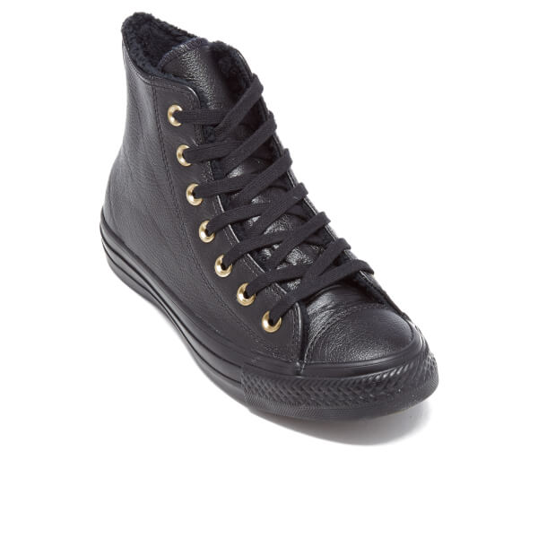 black leather converse high tops womens
