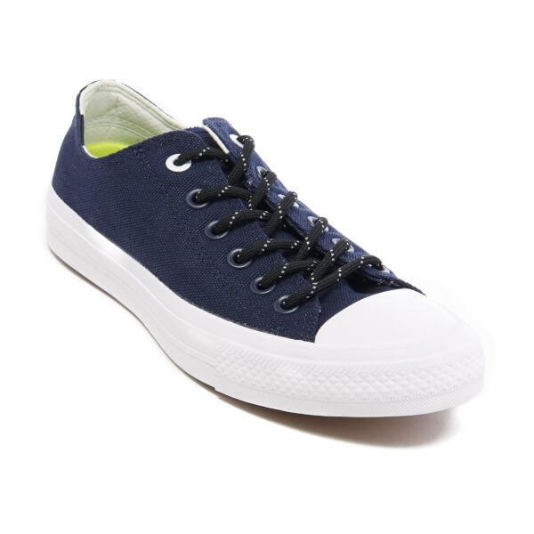 Converse Men's Chuck Taylor All Star II Shield Canvas OX Trainers - Obsidian /White/