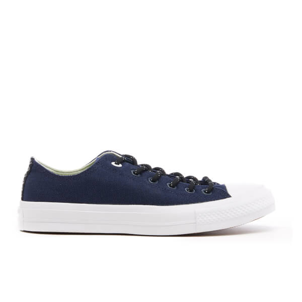 Converse Men's Chuck Taylor All Star II Shield Canvas OX Trainers - Obsidian/White/Gum