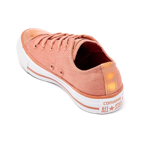 46b6ffb6e924 Converse Women s Chuck Taylor All Star Brush Off Toecap OX Trainers - Pink   Image 4