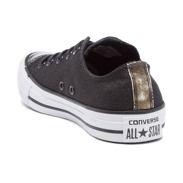 dcb8068aa49683 Converse Women s Chuck Taylor All Star Brush Off Toecap OX Trainers - Black   Image 4