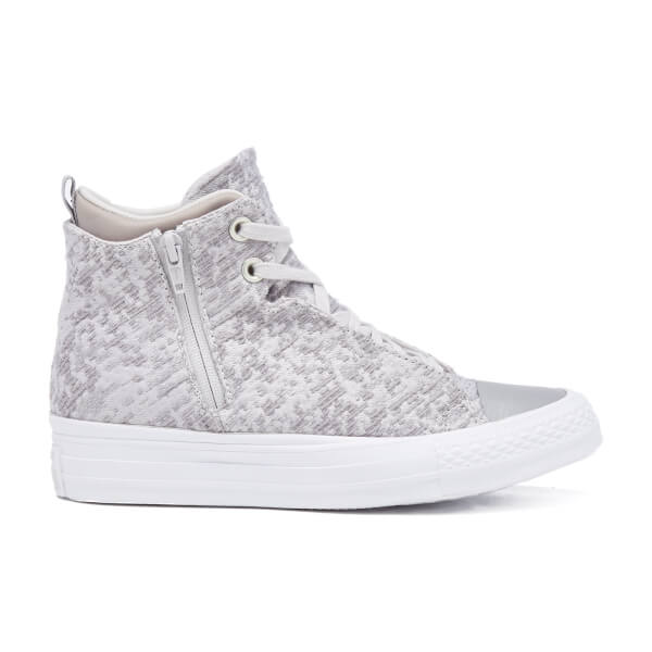 Converse Women's Chuck Taylor All Star Selene Wedged Boots - Mouse/Metallic Glacier