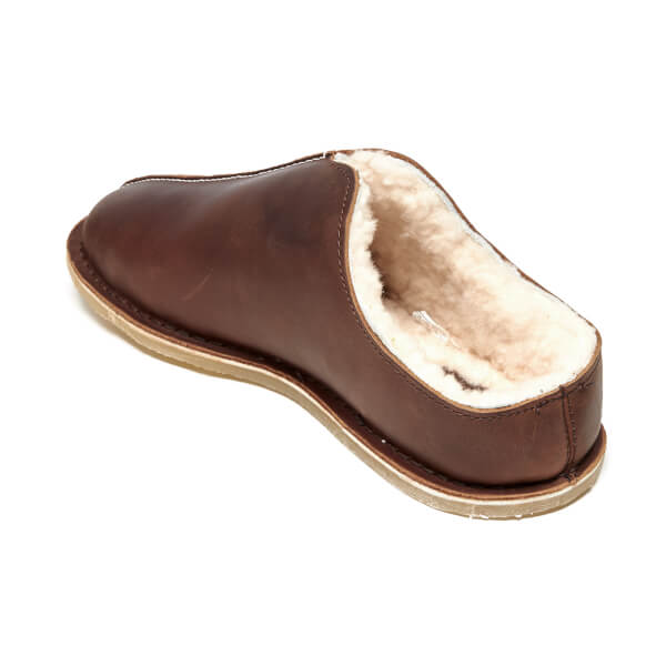 450e16180005 Clarks Men s Kite Stitch Leather Slippers - Brown  Image 4
