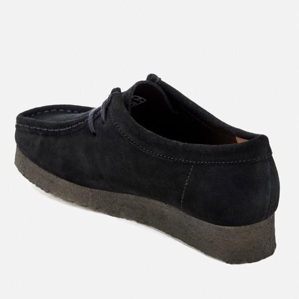 Clarks Originals Women s Wallabee Shoes - Black Suede  Image 4 62243a730d