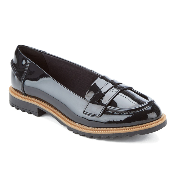 Clarks Griffin Milly - Black Patent 1lbsV
