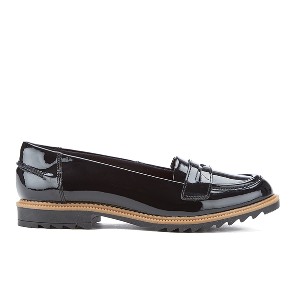 Clarks Women's Griffin Milly Patent Loafers - Black | FREE ...