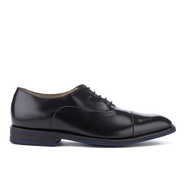 Clarks Men's Swinley Cap Leather Toe Cap Shoes - Black
