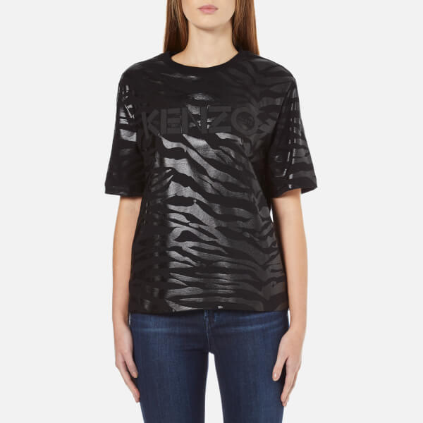 KENZO Women's Tiger Logo T-Shirt - Black