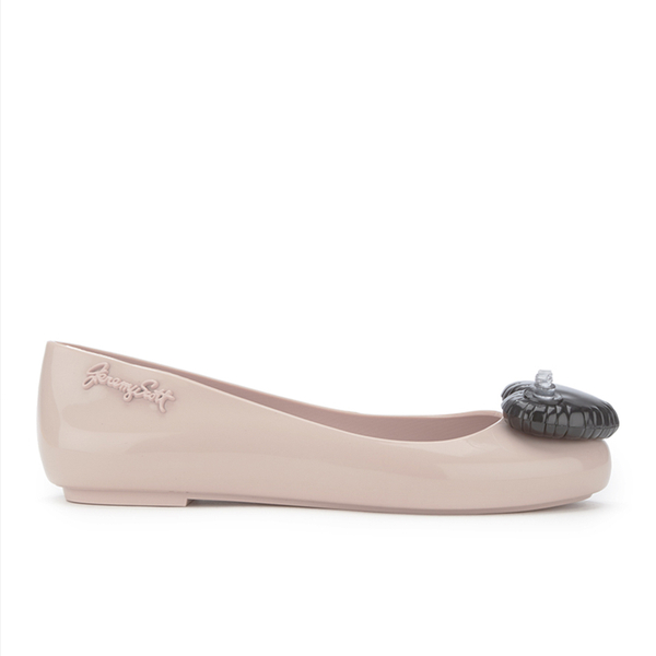 Jeremy Scott for Melissa Women's Space Love Ballet Flats - Nude Contrast Heart