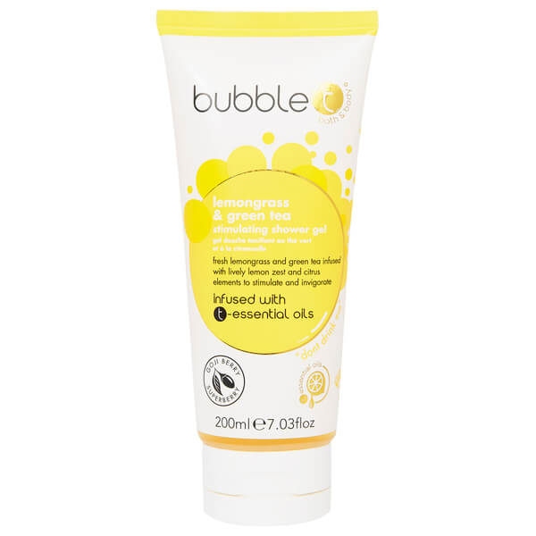 Bubble T Shower Gel - Lemongrass & Green Tea 200 ml