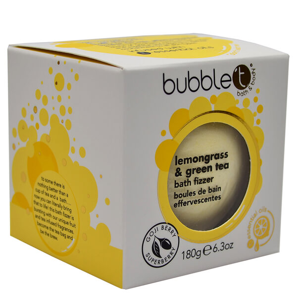 Bola de Baño Efervescente Bubble T - Té de Limoncillo y Verde180 g