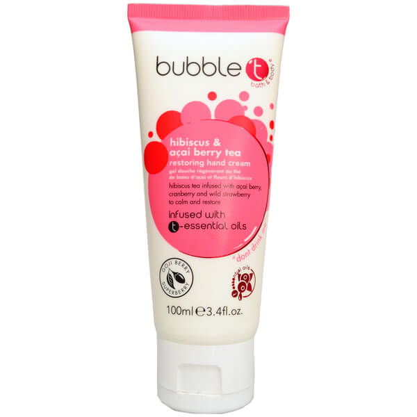 Bubble T Hand Cream - Hibiscus & Acai Berry Tea 100ml