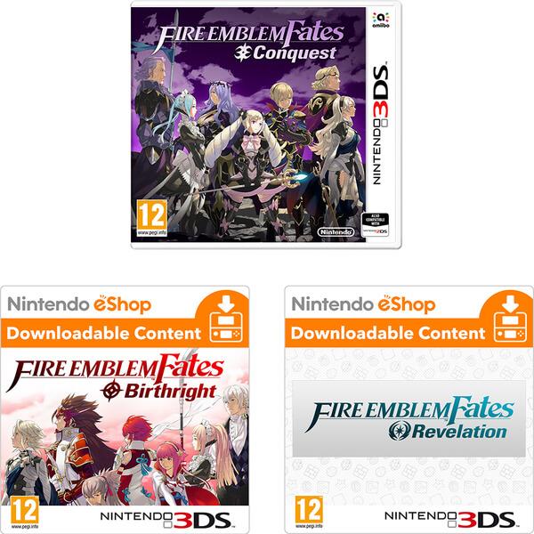Fire Emblem Fates: Conquest + Birthright DLC + Revelations DLC