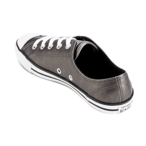b0639b3a3cd4 Converse Women s Chuck Taylor All Star Dainty Ox Trainers - Black Black  White