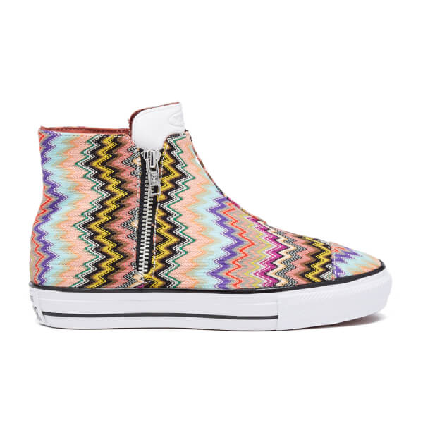 Converse X Missoni Women's Chuck Taylor All Star High Line Trainers - Multi/White/Black