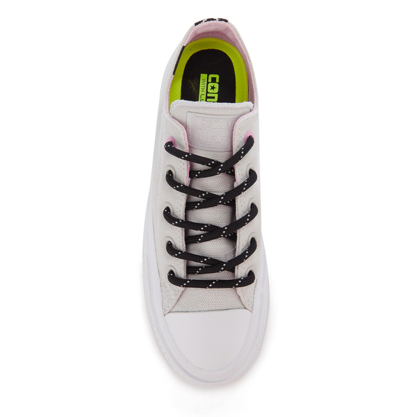 1ebda50d0f2 Converse Women s Chuck Taylor All Star II Shield Canvas Ox Trainers - Mouse  White