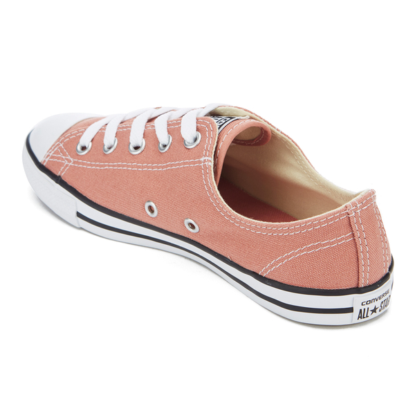 dc8ad86a0a6c2d Converse Women s Chuck Taylor All Star Dainty Ox Trainers - Pink Blush Black  White