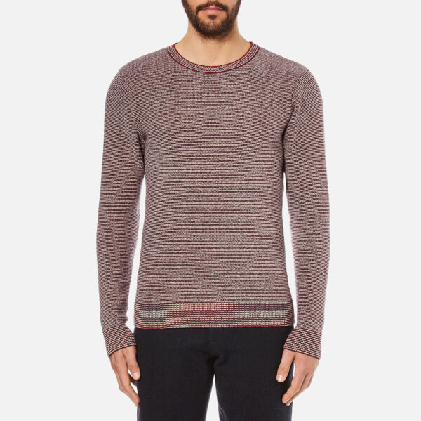 Oliver Spencer Men's Bamako Crew Neck Jumper - Red Multi