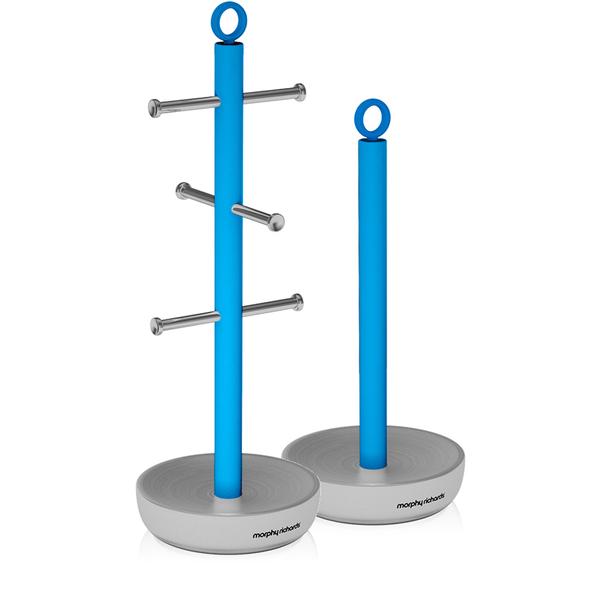 Morphy Richards Towel Pole: Morphy Richards 971334 Towel Pole Mug Tree Set - Iris