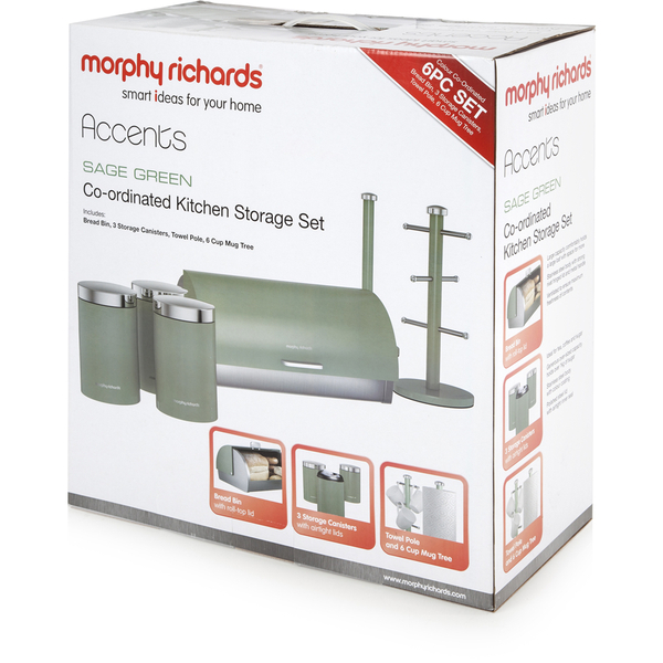 morphy richards red kitchen accessories morphy richards 974107 6 storage set green 9291