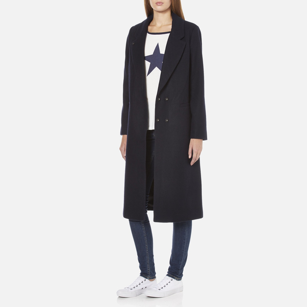 Womens navy tailored coat