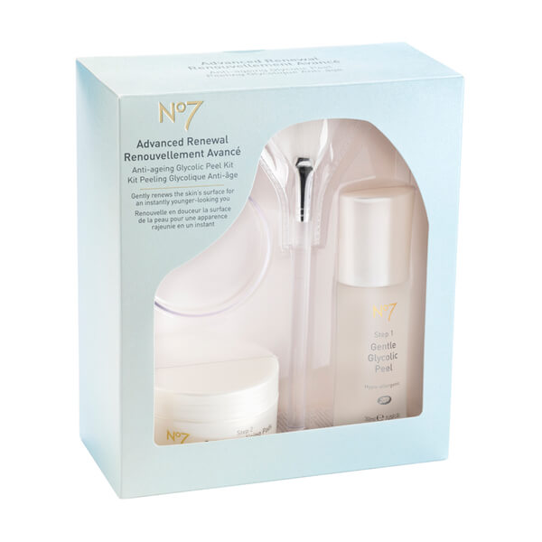 Boots No.7 Advanced Renewal Anti-Aging Glycolic Peel Kit