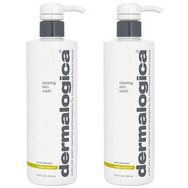 2x Dermalogica MediBac Clearing Skin Wash 500ml
