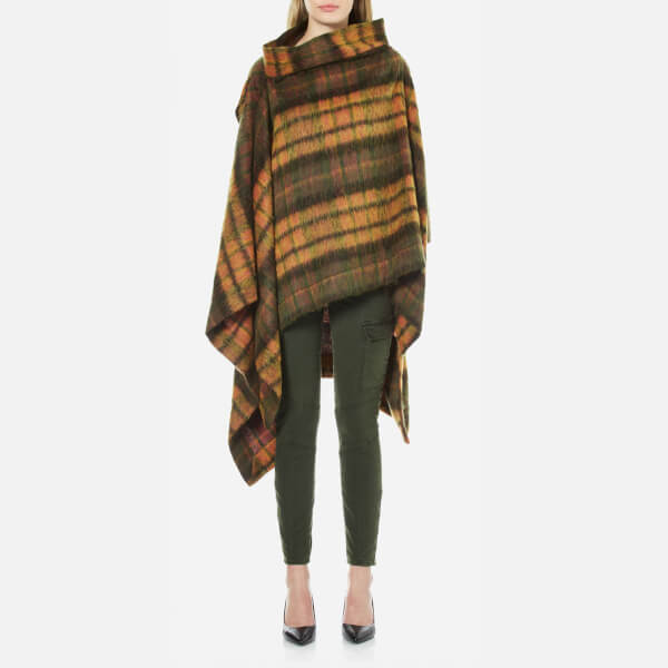 Vivienne Westwood Anglomania Women's Gaia Mohair Cape - Yellow - One Size