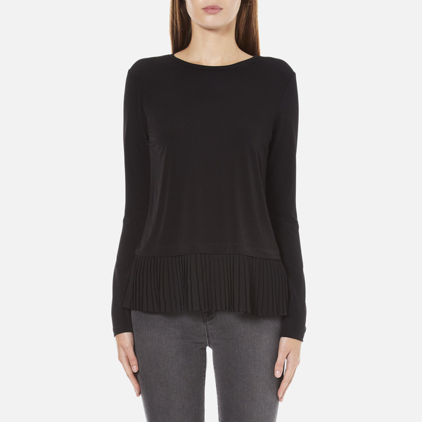 MICHAEL MICHAEL KORS Women's Solid Woven Pleat Top - Black