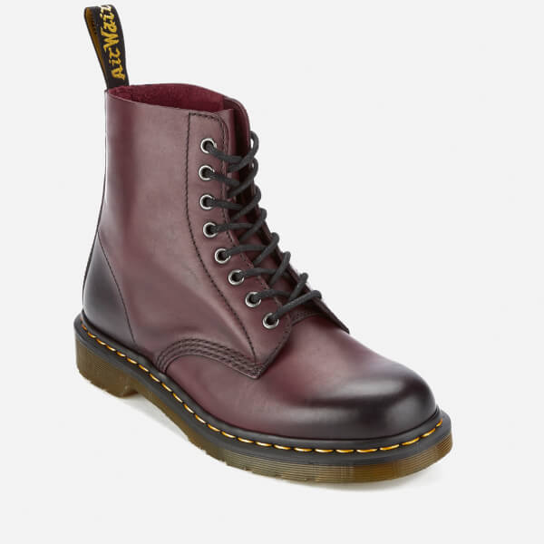 Dr. Martens Men's Core Pascal Leather 8-Eye Lace Up Boots - Cherry Red - UK 7 zlsR4qmdG
