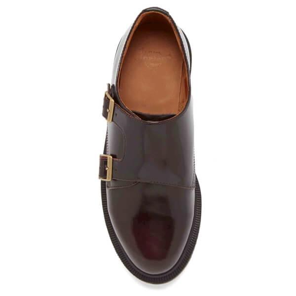3593d4893 Dr. Martens Women's Pandora Arcadia Double Strap Monk Shoes - Cherry Red:  Image 3