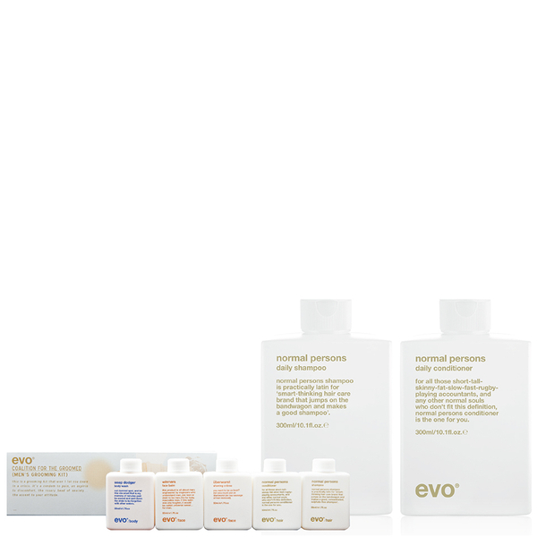 Evo Normal Persons Shampoo & Conditioner Bonus Travel Kit